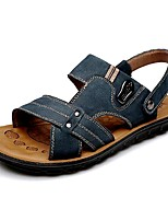 Men's Shoes Amir 2016 New Style Hot Sale Outdoor / Casual Comfort Leather Beach Sandals Brown / Navy