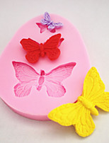 Silicone Mold Chocolate Fondant Cake Fondant Three Small Butterfly