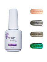 ILuve Gel Nail Polish Set - Pack Of 4 - Long Lasting 3 Weeks Soak Off UV Led Gel Varnish – For Nail Art #4063