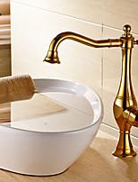 Vasque Mitigeur un trou in Ti-PVD Robinet lavabo