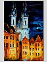 Architecture Style Canvas Material Oil Paintings with Stretched Frame Ready To Hang Size 90*60CM