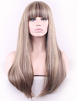 Linen Gray Qi Liu Hai Long Straight Hair Synthetic Wig