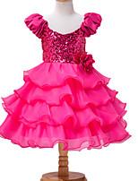 Girl's Pink Dress Cotton / Polyester Summer