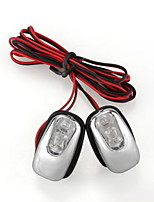 2 x Jet Wiper Cleaner LED Blue Light Lamp for car