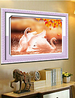 DIY 5D Round Diamond Painting Cross Stitch Kits Autumn Lover Swans Animals Diamonds Embroidery Home Decor Diamond Mosaic