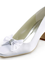 Women's Wedding Shoes Heels / Square Toe Heels Wedding / Party & Evening / Dress White