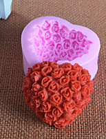 Love Rose Fondant Silicone Mold Chocolate Mold