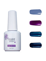 ILuve Gel Nail Polish Set - Pack Of 4 - Long Lasting 3 Weeks Soak Off UV Led Gel Varnish – For Nail Art #4014