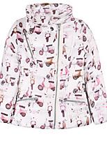 Veste & Manteau Fille de Hiver Coton Blanc