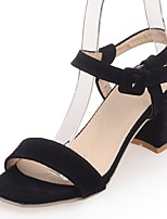 Women's Shoes Chunky Heel Ankle Strap Sandals Party & Evening / Dress / Casual Black / Pink / Gray