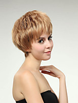 Short Style Straight Hair European Weave Blonde Color Hair Synthetic Wig