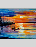 Seascape Canvas Material Oil Paintings with Stretched Frame Ready To Hang Size 90*60CM