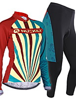 NUCKILY mountain bike cycling in autumn and winter clothes women long-sleeved thermal underwear suit