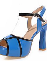 Women's Shoes Spool Heels/Platform/Sling back/Open Toe Sandals Party & Evening/Dress Blue/Pink/White