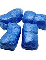 Disposable Plastic Shoe Covers (40) Blue