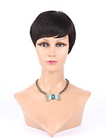 Top Grade Front Full Lace Human Wigs Machine Made Glueless Rihanna Chic Cut Short Wigs For Black Women