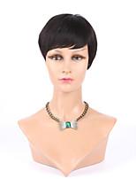 supérieure avant de grade pleine dentelle machine perruques humaine fait sans colle courtes perruques rihanna coupées chic pour les femmes