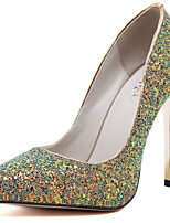 Women's Shoes Glitter Stiletto Heel Heels Heels Wedding / Office & Career / Party & Evening / Casual Black / Green