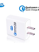JDB Quick Charge 2.0 with Qualcomm Certificated 18W Wall Charger EU US Plug for Samsung Galaxy SONY HTC+Data Cable