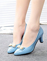 Women's Shoes Leatherette Chunky Heel Heels Heels Outdoor / Casual Black / Blue / White
