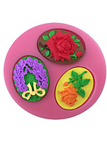 Rose Badge Style Sugar Candy Fondant Cake Molds  For The Kitchen Baking Molds