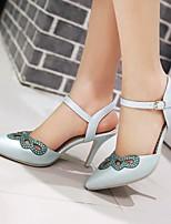 Chaussures Femme-Habillé / Décontracté / Soirée & Evénement-Bleu / Rose / Blanc-Talon Aiguille-Talons / Bout Pointu-Talons-Similicuir