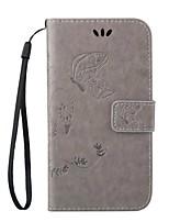 Para Samsung Galaxy Capinhas Porta-Cartão / Com Suporte / Flip / Com Relevo / Magnética Capinha Corpo Inteiro Capinha Borboleta Couro PU