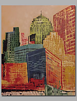 Abstract Architecture Painting Line Brush Design Framed