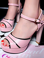 Women's Shoes Stiletto Heels/Platform/Open Toe Sandals Party & Evening/Dress Blue/Pink/White