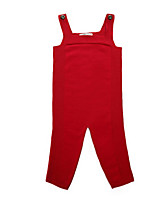 Girl's Red / Yellow / Gray Overall & Jumpsuit Cotton Spring / Fall