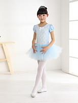Ballet Children's Sweet Lace Performance Cotton / Polyester Bow(s) Dresses
