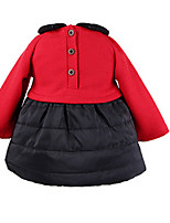 Girl's Red Dress Cotton Spring / Fall