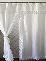 Modern Ruffled Shower Curtains W71