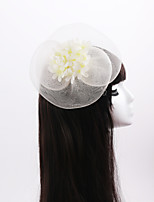 Women's / Flower Girl's Imitation Pearl / Organza / Fabric Headpiece-Wedding / Special Occasion Fascinators 1 Piece