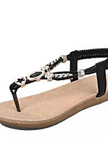 Women's Shoes Leatherette Flat Heel Open Toe Sandals Casual Black / Blue / Red / White