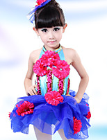 Performance Children's Sweet Lovely Flowers Performance Cotton Dresses Dance Costumes