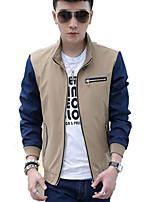 Men's Spring Korean Plus Sizes Pure Leisure Autumn Long Sleeve Jacket