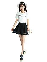 Women's Patchwork Black Skirts,Holiday Mini