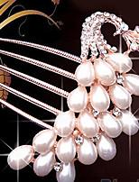 Capacete Pentes de Cabelo / Acessórios para Cabelos Casamento / Ocasião Especial / Casual Imitação de Pérola MulheresCasamento / Ocasião