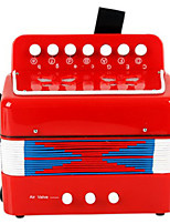Accordion Music Toy Plastic Red / Green / Blue / Rose