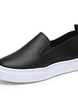 Women's Shoes Casual/Office & Career/Travel Fashion Loafers PU Leather Shoes Black/White