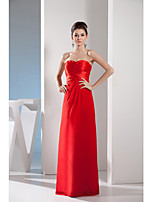 Formal Evening Dress-Ruby Sheath/Column Sweetheart Floor-length Chiffon / Charmeuse