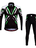 WOSAWE Spring & Summer Men MTB Long Sleeve Cycling Jersey Set  Runing Tights High Quality Gel Cycling Clothings