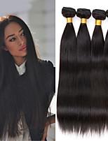 26.8 Zoll peruanisches reines Haar 4pcs / lot gerade Menschenhaar spinnt natürliche schwarze peruanisches glattes Haar