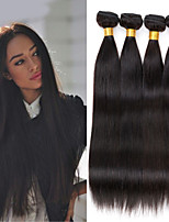 4pcs peruana de cabello virgen / lot del pelo humano recto 8-26 pulgadas teje el pelo liso negro natural peruano