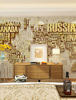 JAMMORY Art Deco Wallpaper Contemporary Wall Covering,Other A Large Mural Wallpaper Colorful Alphabet Map