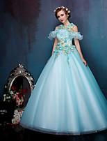 Princess Wedding Dress-Pool Floor-length Straps Lace / Organza / Tulle