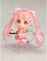 Vocaloid Sakura Miku PVC One Size Anime Action Figures Model Toys  Q Version 1pc 9cm