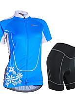 Conjuntos de Roupas/Ternos(Azul) - deFitness / Corridas / Esportes Relaxantes / Ciclismo / Triathlon-Mulheres-Impermeável / Respirável /