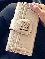 VENETA Women PU Tri-fold Clutch / Wallet / Card & ID Holder-Pink / Gold / Red / Black